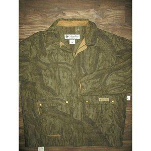 Columbia Wool Camo Coat Full Zip Camouflage Jacket